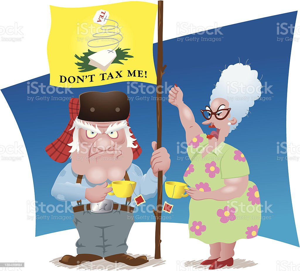 Tea Partiers royalty-free stock vector art
