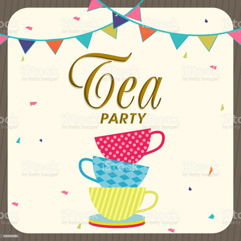 Tea Party Invitation Card Design stock vector art 530300063 – Afternoon Tea Party Invitation