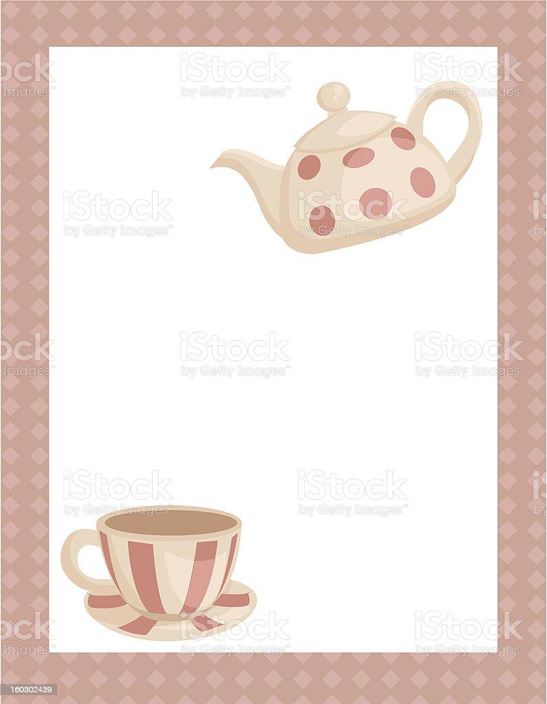 Tea party invitation royalty-free stock photo