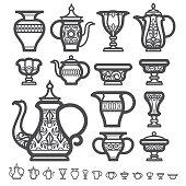 Arabic Tea Coffee Thermos flasks, free photo, #1632684