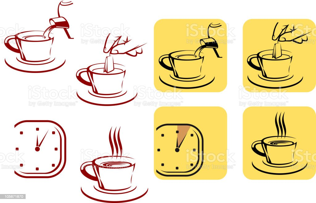 Tea preparation royalty-free stock vector art