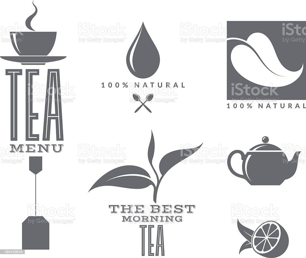 Tea. Set vector art illustration