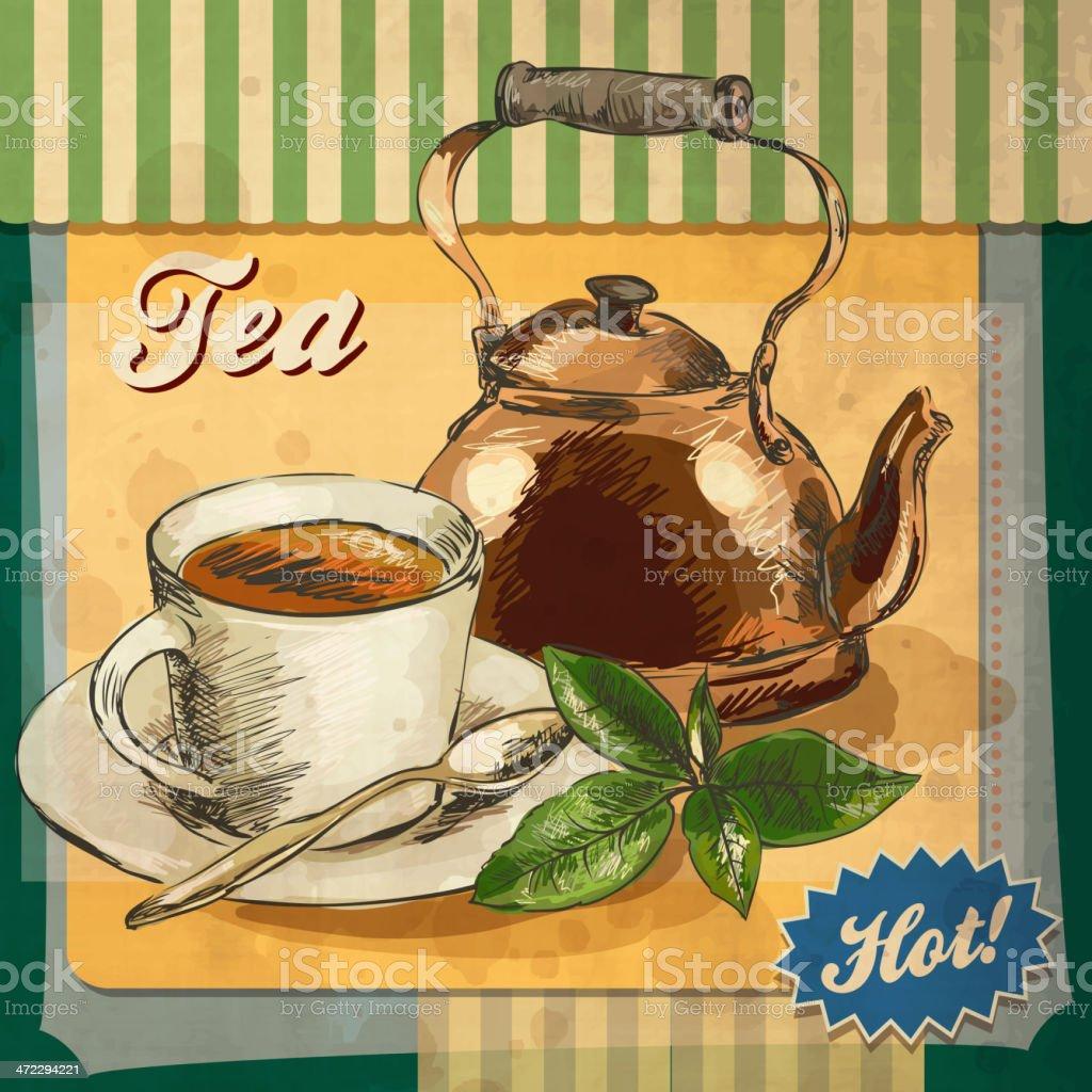 Tea still life royalty-free stock vector art