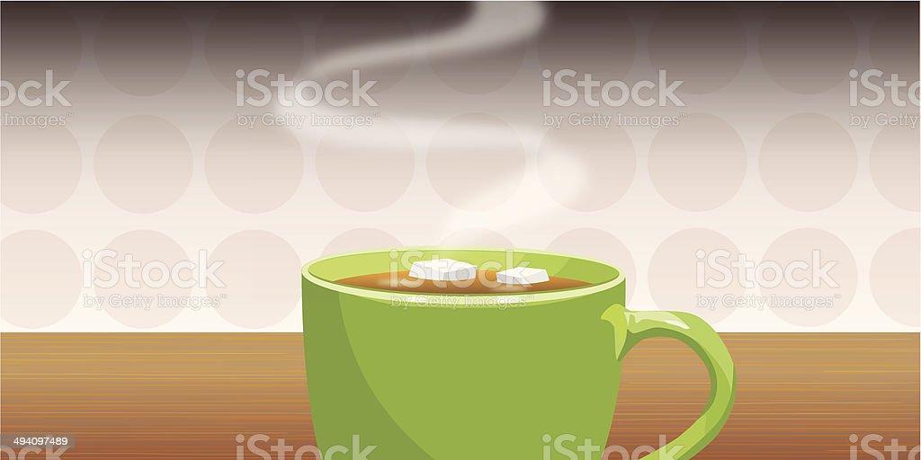 tea sugar vector art illustration