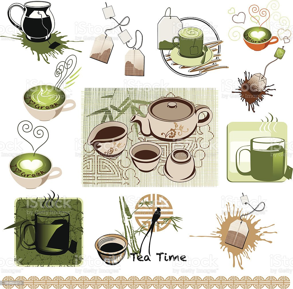 Tea Time Collection royalty-free stock vector art