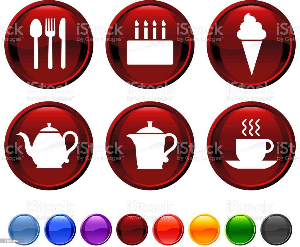 tea time royalty free vector icon set royalty-free stock vector art
