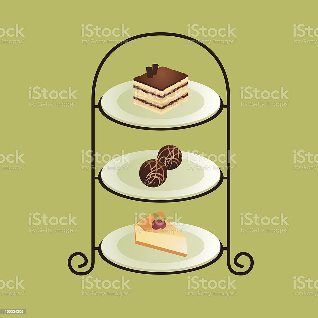 Tea time (vector) royalty-free stock vector art