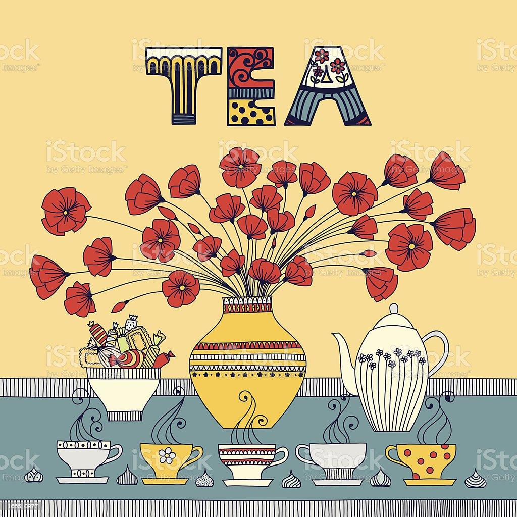 Tea time royalty-free stock vector art