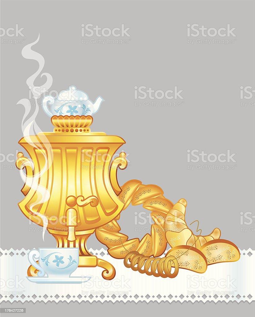 Tempo do chá download vetor e ilustração royalty-free