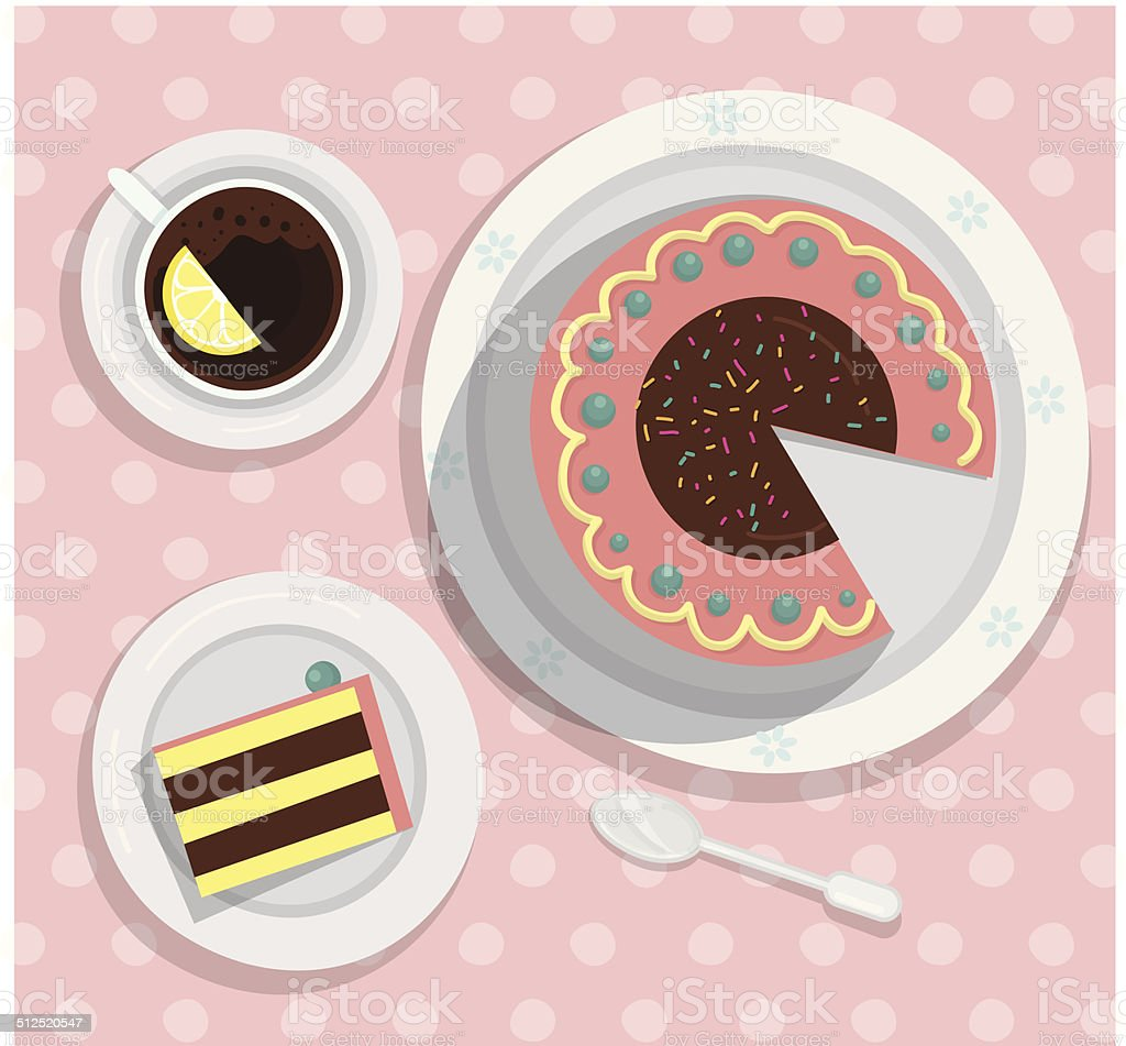 Tea Time vector illustration vector art illustration