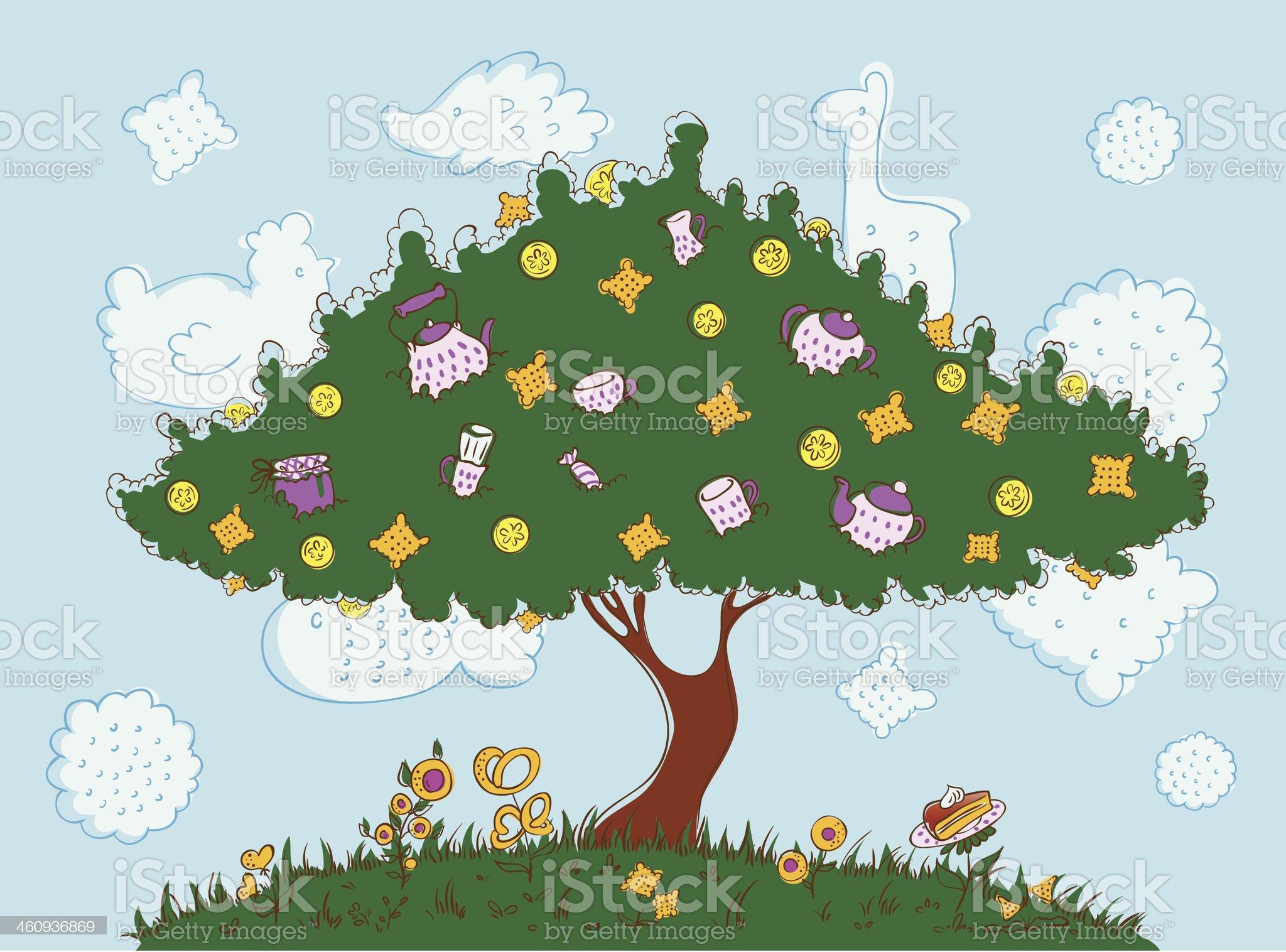 Tea tree royalty-free stock vector art