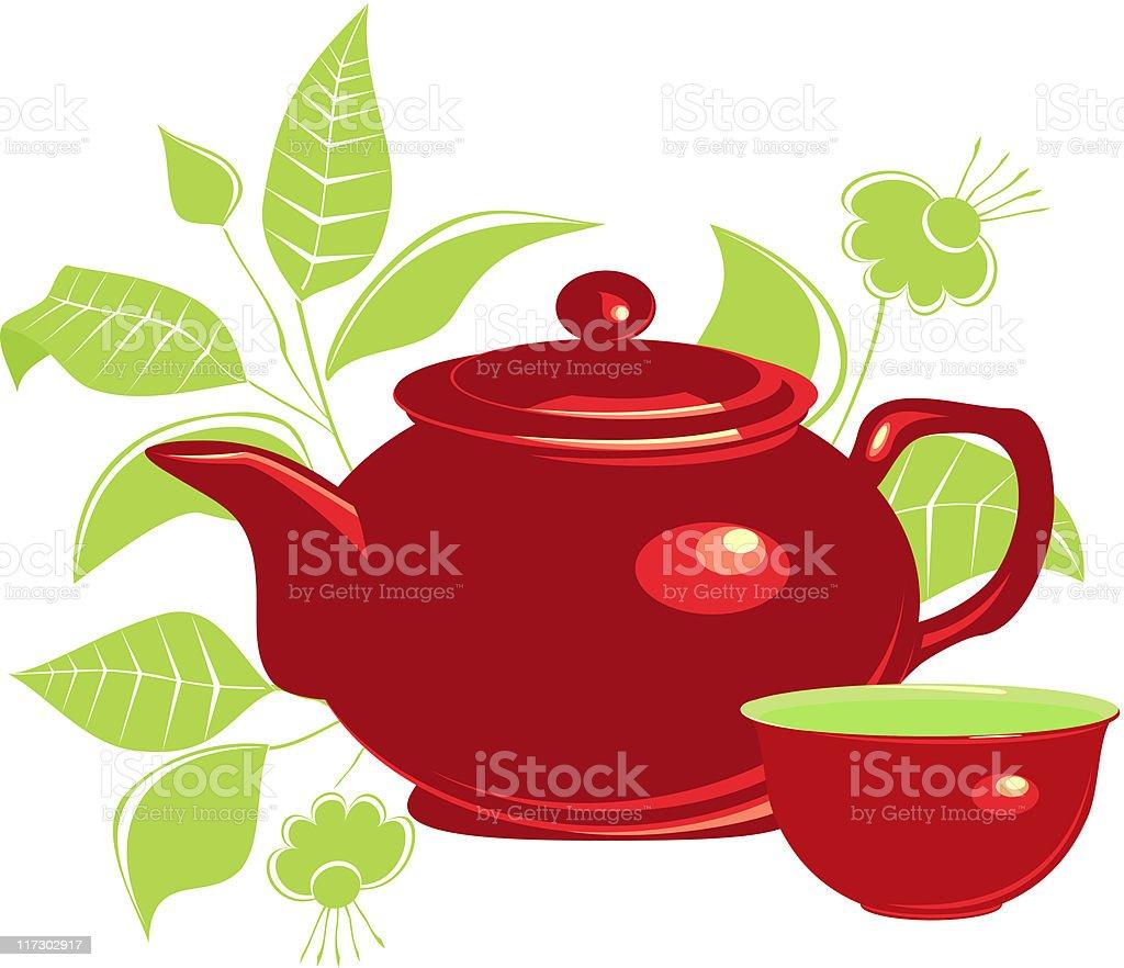 Tea vector art illustration