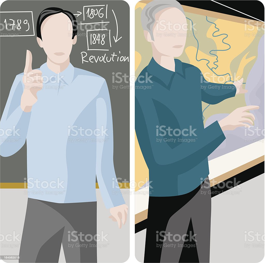 Teacher Illustrations Series royalty-free stock vector art