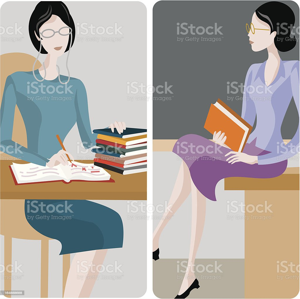 Teacher Illustrations Series royalty-free stock vector art