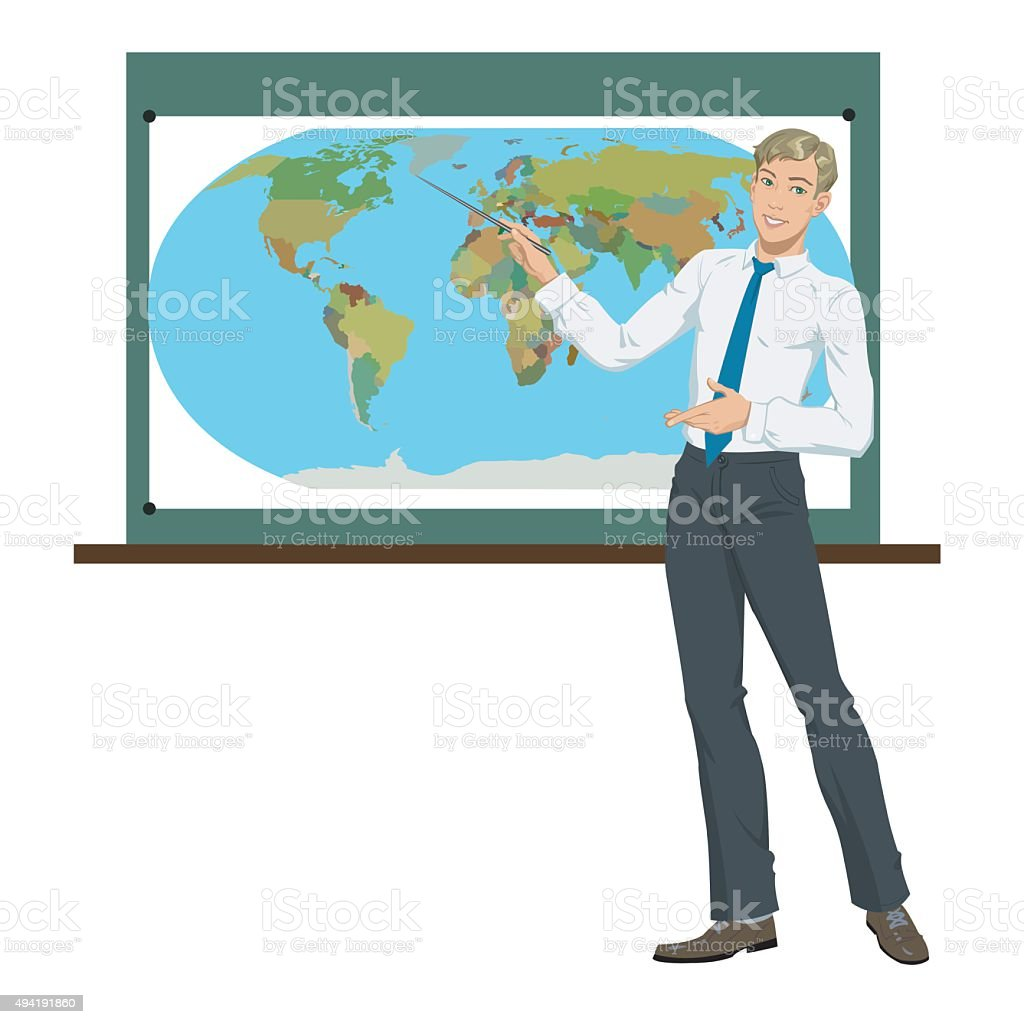 teacher of Geography royalty-free stock vector art
