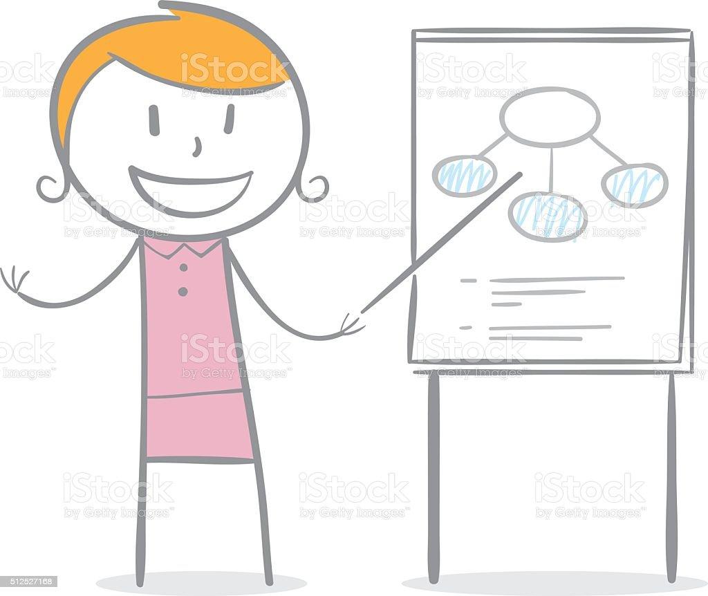 Teacher vector art illustration
