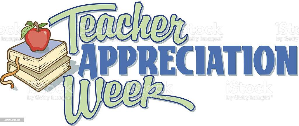 Teacher Week Heading C vector art illustration