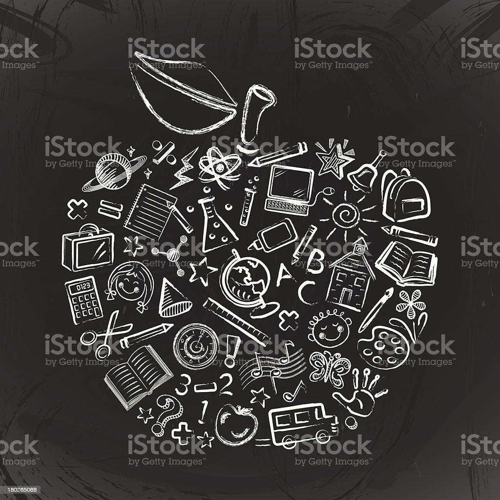 Teacher's Apple royalty-free stock vector art