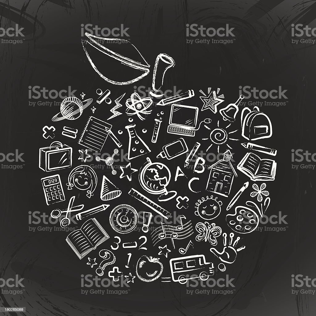 Teacher's Apple vector art illustration