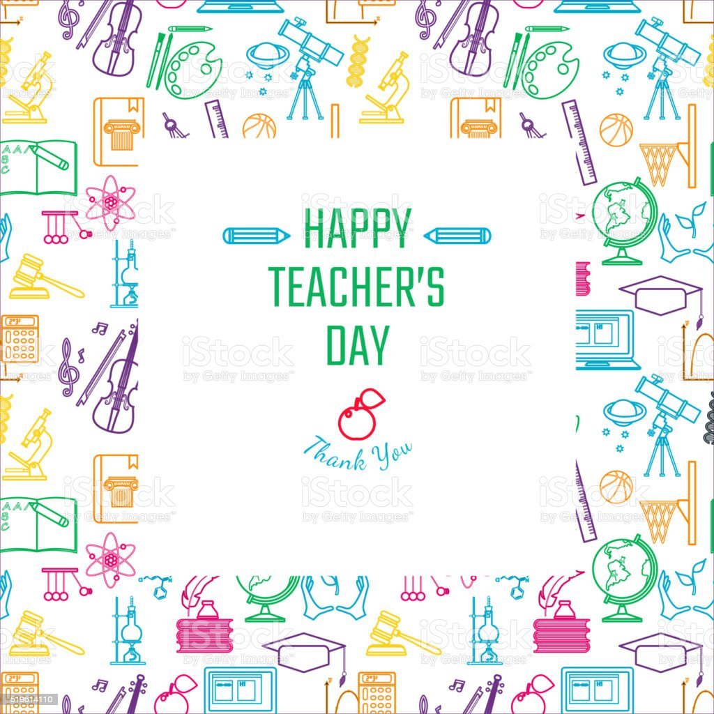 Teachers Day Holidays vector art illustration