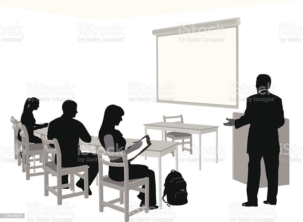 Teaching Classes royalty-free stock vector art
