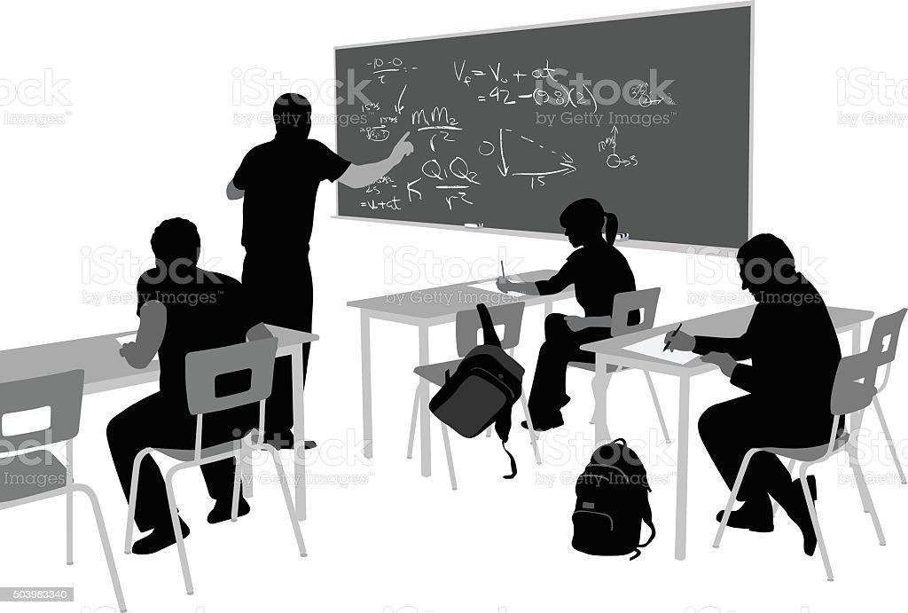 Teaching Math vector art illustration