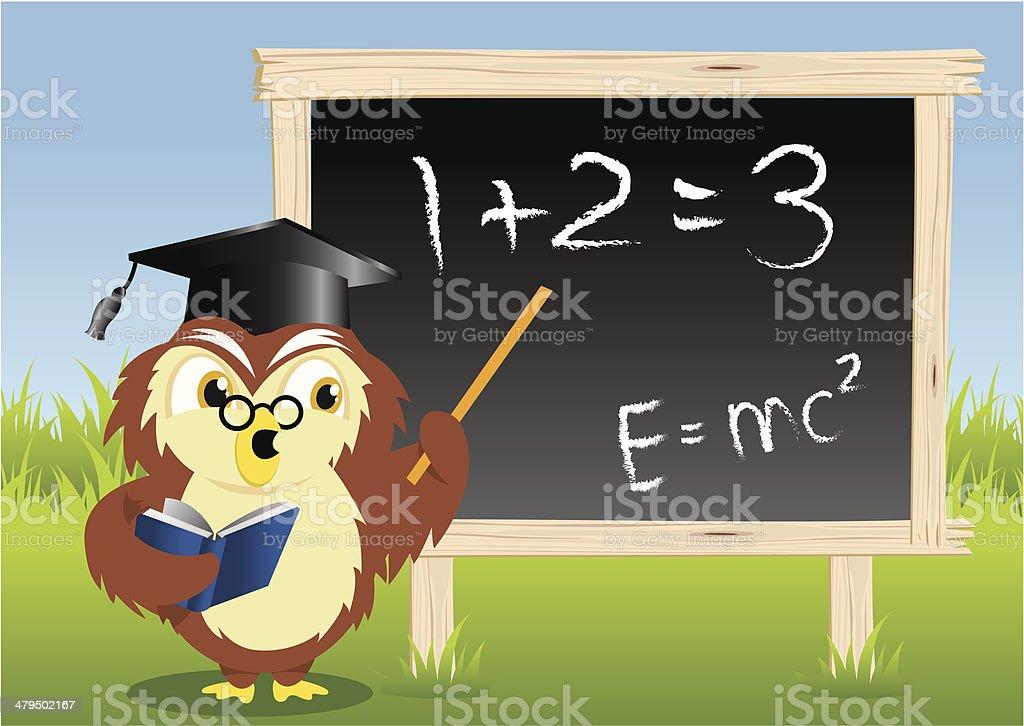 Teaching Owl royalty-free stock vector art