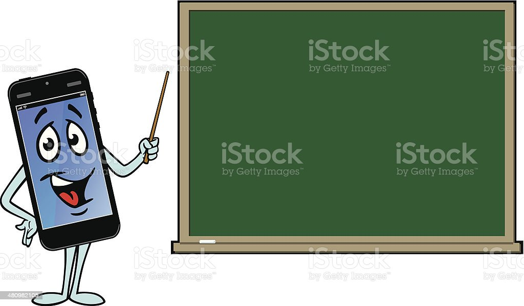 PDA Teaching With Blackboard royalty-free stock vector art