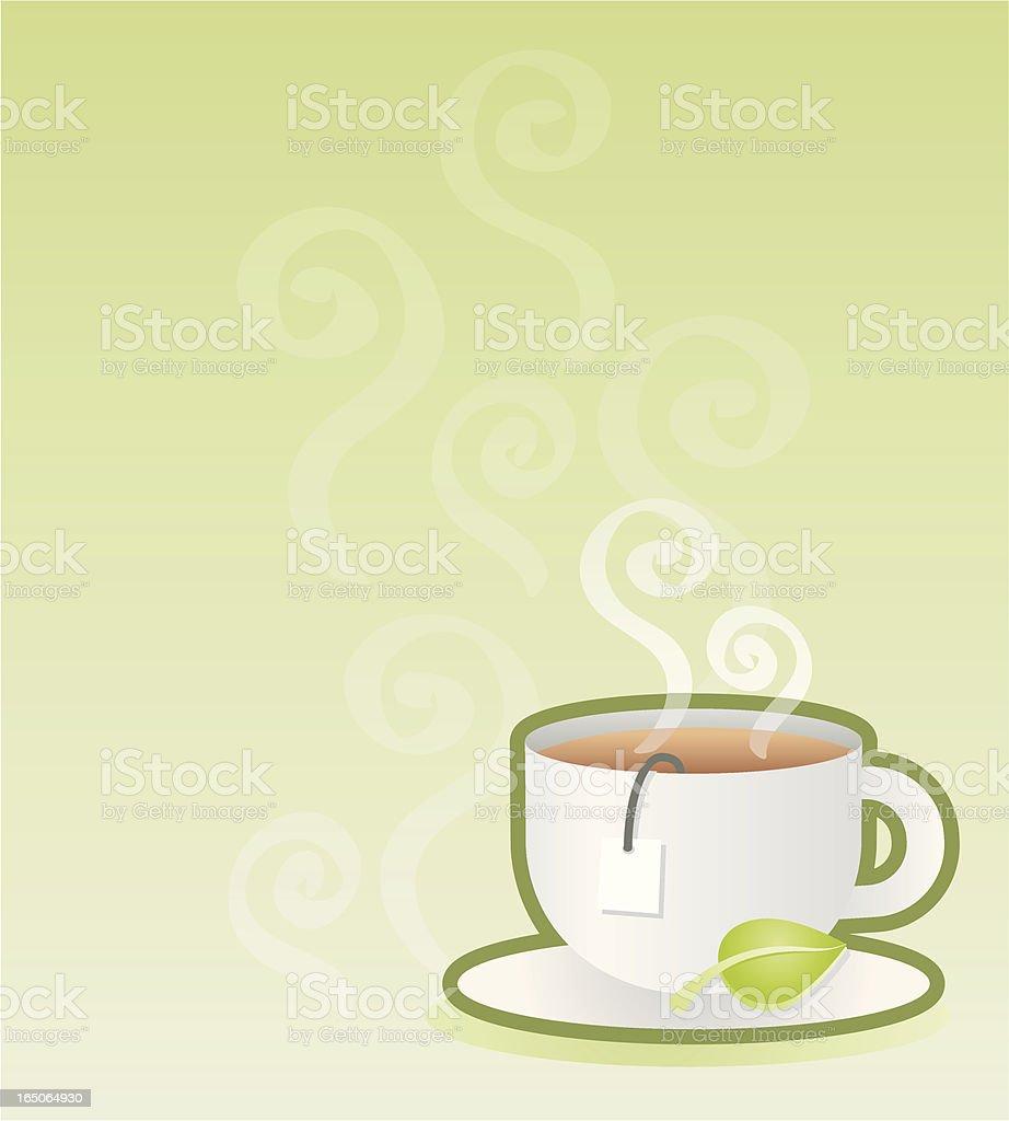 teacup vector art illustration