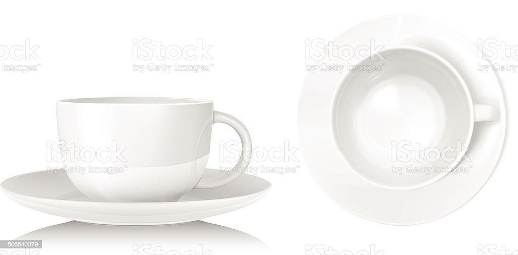 Teacup - Vector vector art illustration