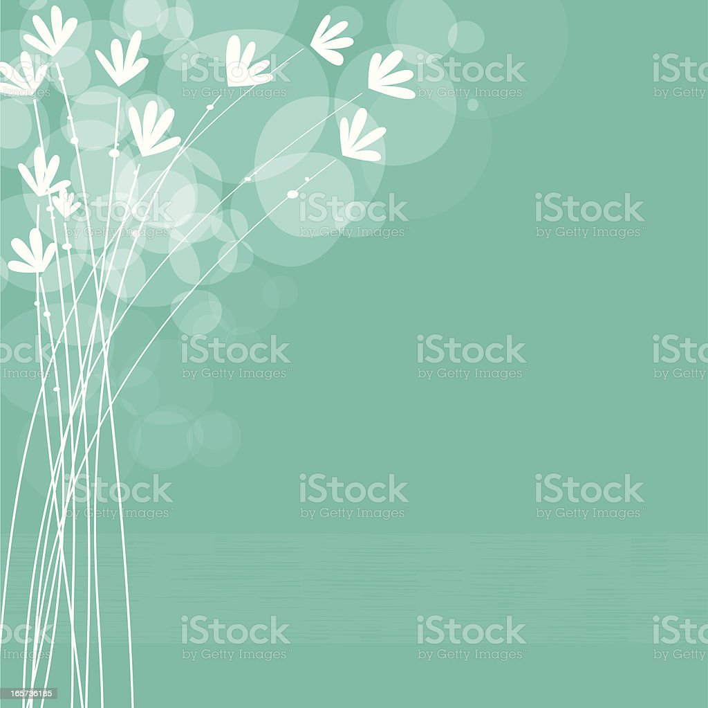 Teal floral background royalty-free stock vector art