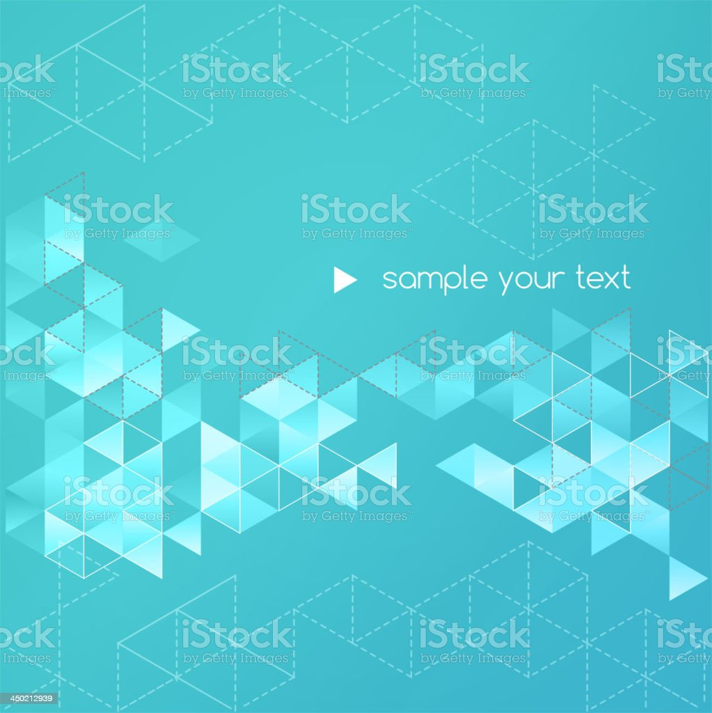 Teal triangles abstract background royalty-free stock vector art