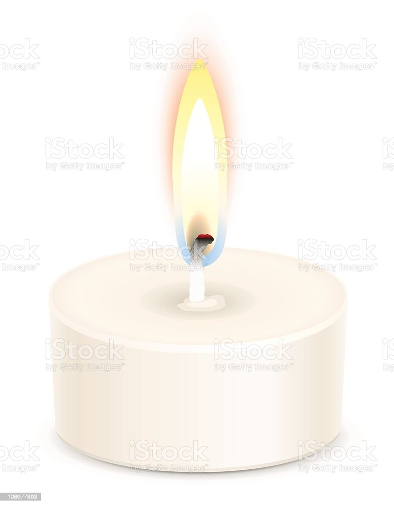 Tealight candle royalty-free stock vector art