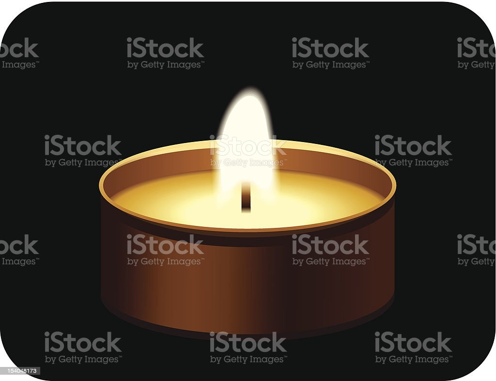 Tealight candle. Vector illustration. royalty-free stock vector art