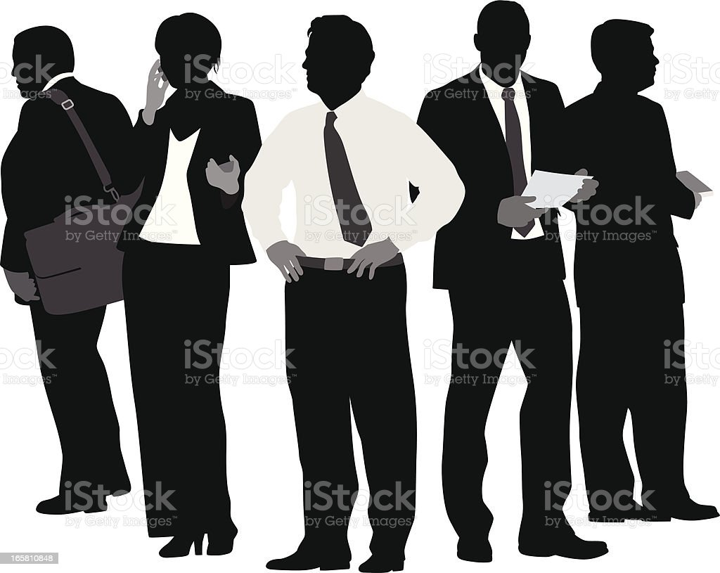 Team Builders Vector Silhouette royalty-free stock vector art