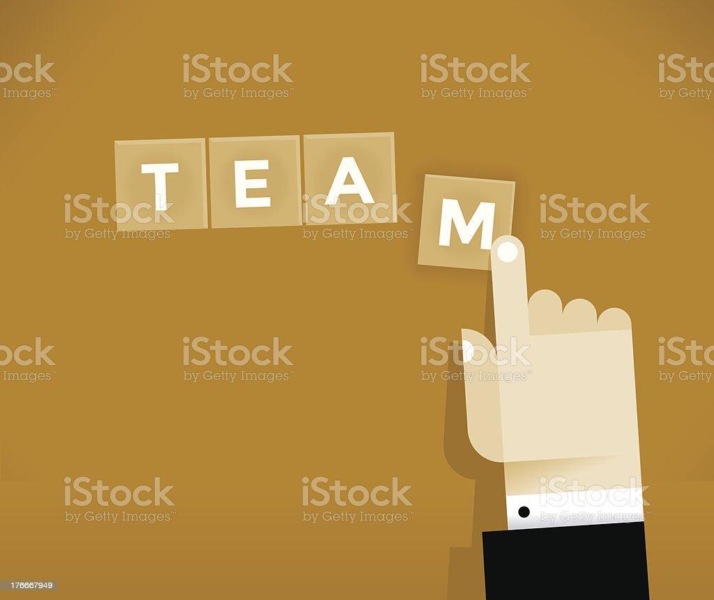 Team Building royalty-free stock vector art