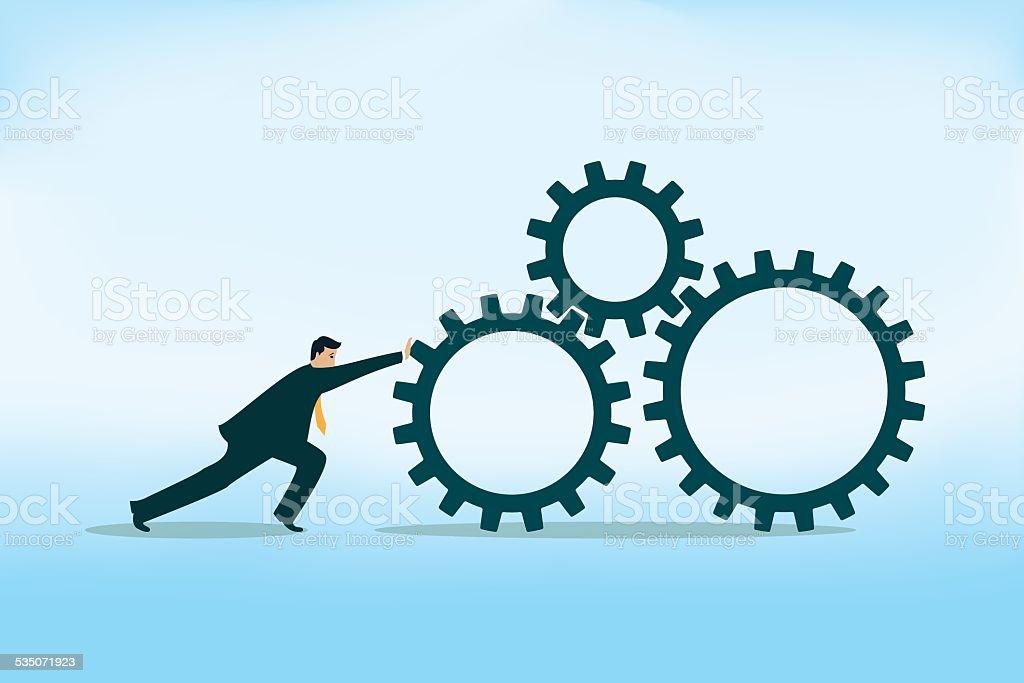 Team Gear vector art illustration