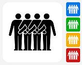 Team  Icon Flat Graphic Design