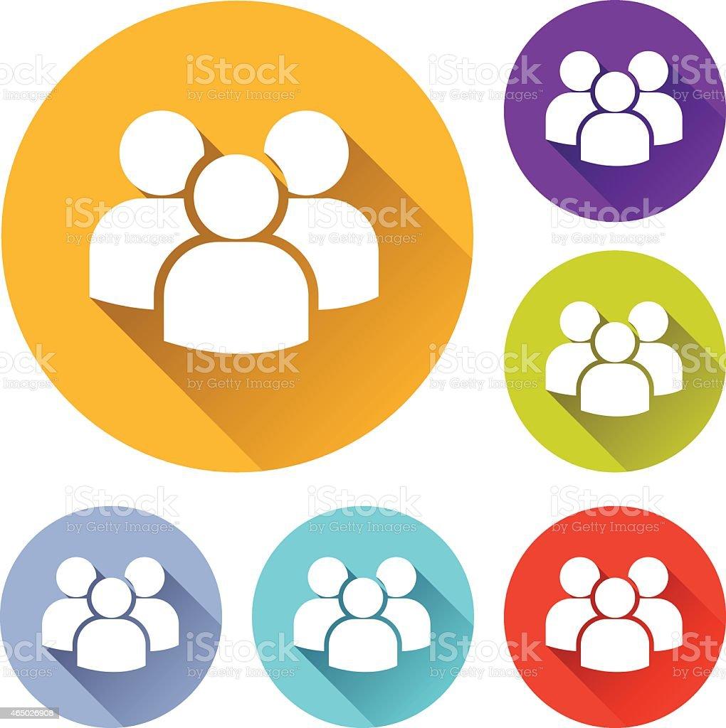 team icons vector art illustration