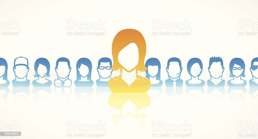 Team leader royalty-free stock vector art