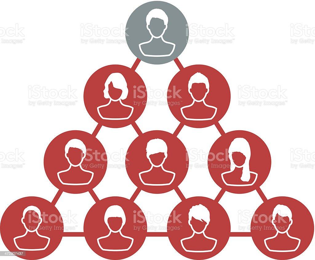 Team leader vector art illustration