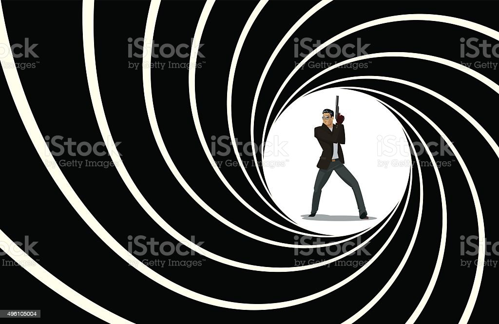Team of secret agents vector art illustration