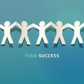 Team Success Concept Paper Cut