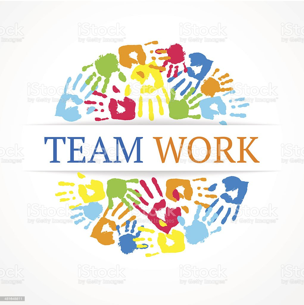 Team work symbol. Vector creative concept. vector art illustration