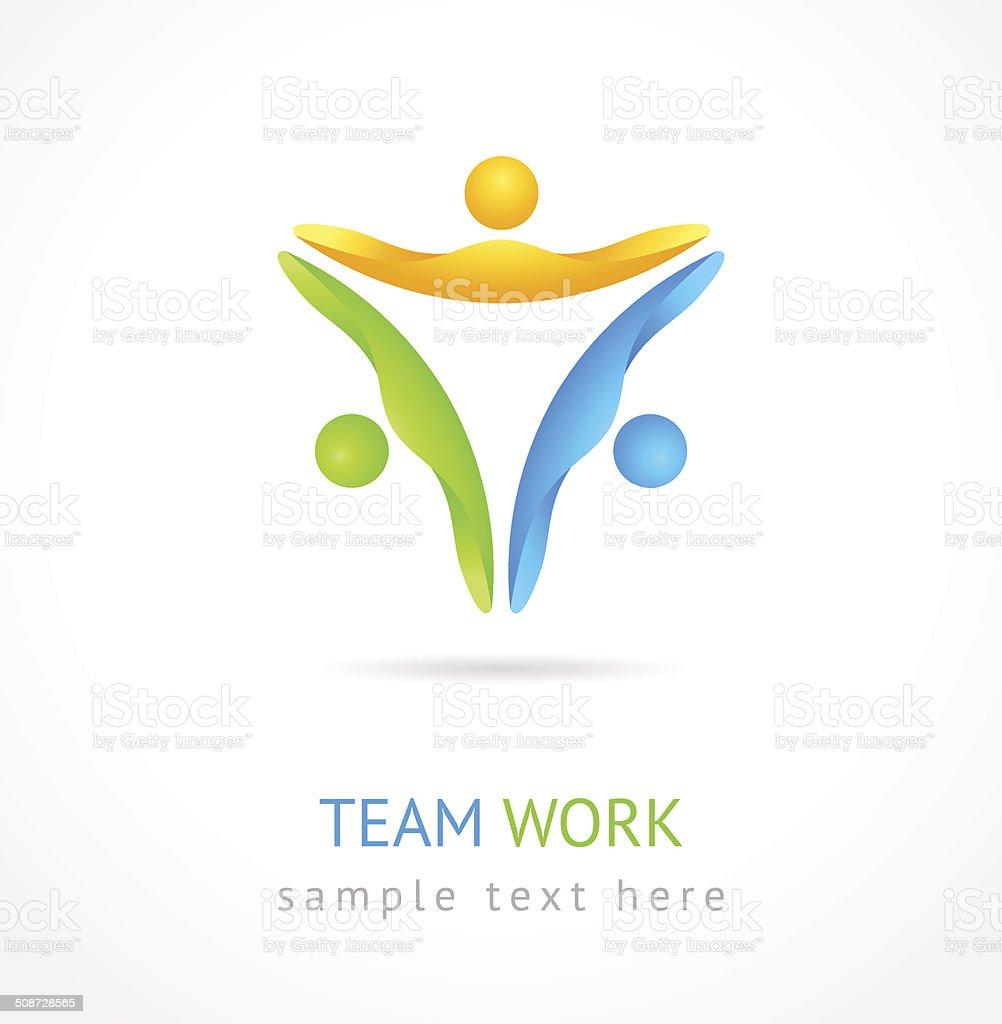 Team work vector design template. vector art illustration