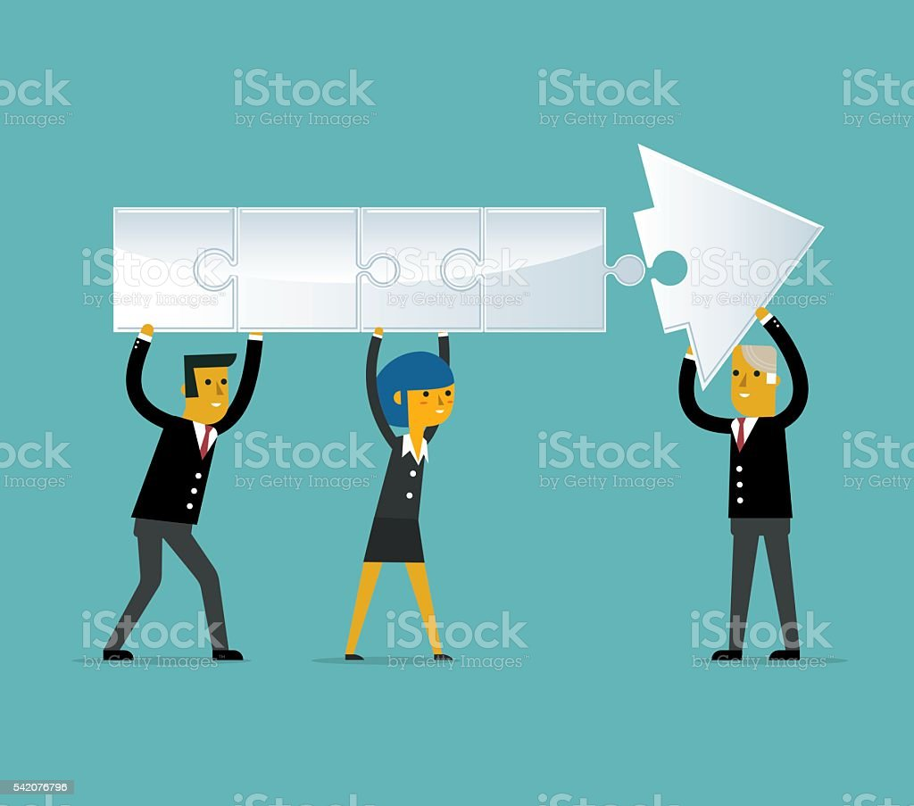 Team Work vector art illustration