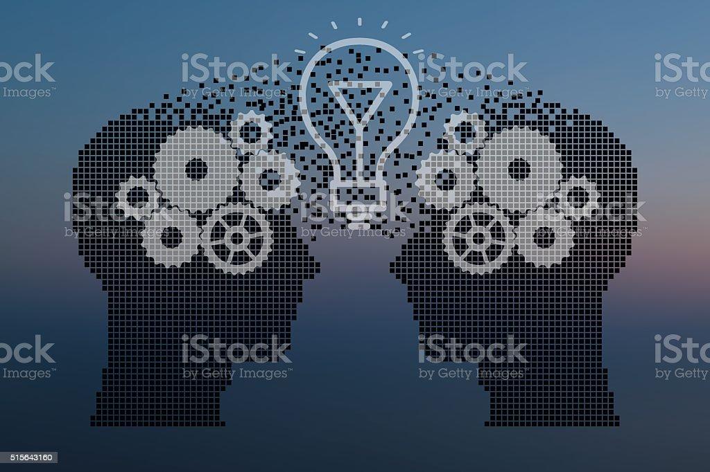 Teamwork and Leadership vector art illustration