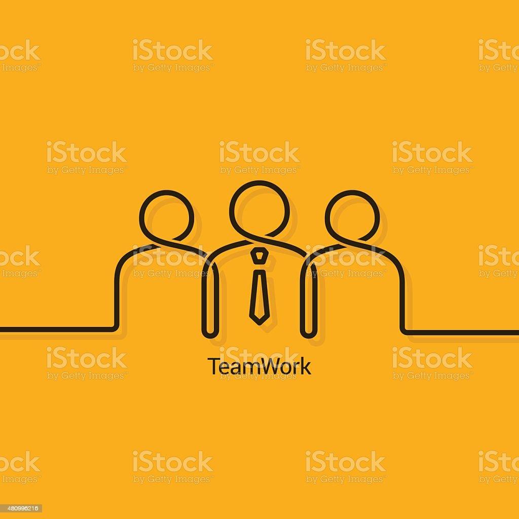 teamwork business concept design background vector art illustration