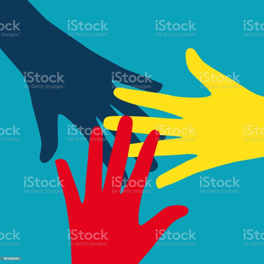 Teamwork, Community, Social Design Flat Concept. Vector Illustra vector art illustration