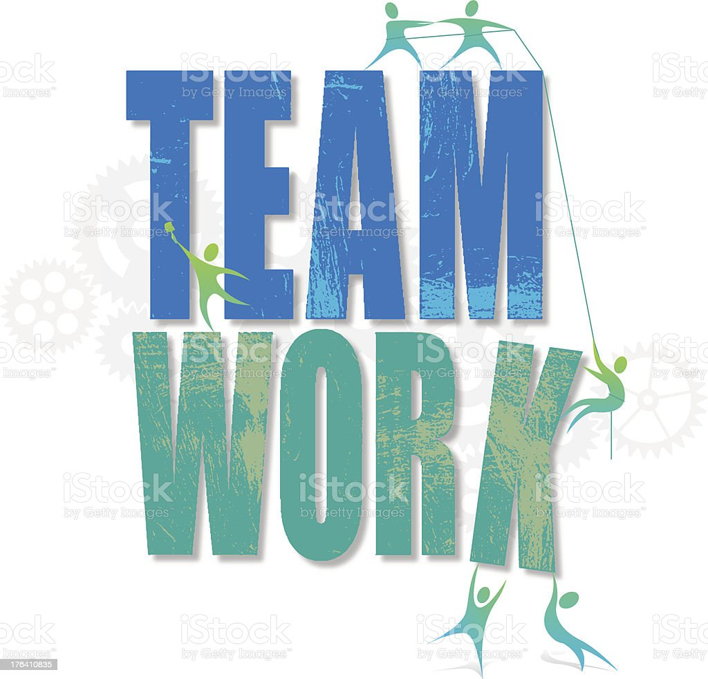 Teamwork concept v1 royalty-free stock vector art